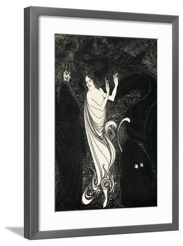 Third Tableau Illustration for Das Rheingold, Published in the Savoy, 1896-Aubrey Beardsley-Framed Art Print