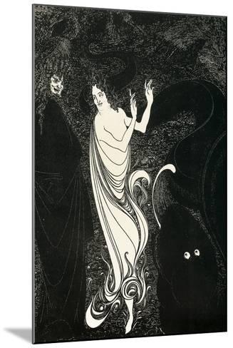 Third Tableau Illustration for Das Rheingold, Published in the Savoy, 1896-Aubrey Beardsley-Mounted Giclee Print