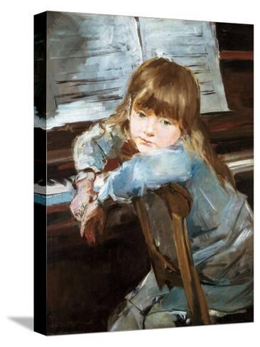 Girl before the Piano, Late C19th-Francisco Torrescassana-Stretched Canvas Print