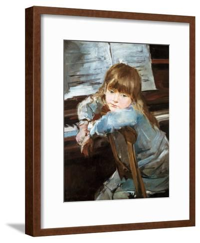 Girl before the Piano, Late C19th-Francisco Torrescassana-Framed Art Print