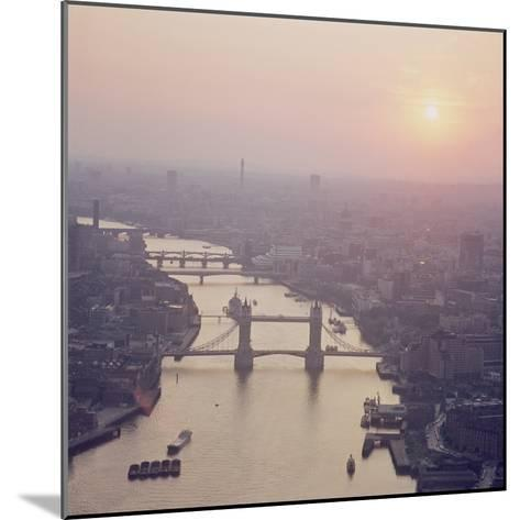 View of the River Thames Featuring Tower Bridge, Looking West--Mounted Photographic Print