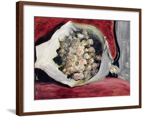 Bouquet in a Theatre Box, C.1878-80-Pierre-Auguste Renoir-Framed Art Print