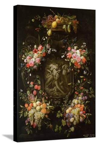 Garland of Fruit and Flowers with the Death of Adonis, 1652- Joris van Son and Erasmus Quellinus-Stretched Canvas Print