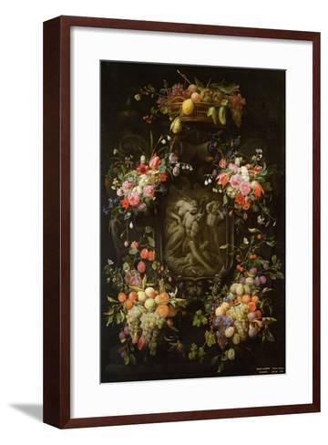 Garland of Fruit and Flowers with the Death of Adonis, 1652- Joris van Son and Erasmus Quellinus-Framed Art Print