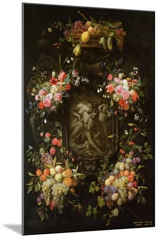 Garland of Fruit and Flowers with the Death of Adonis, 1652- Joris van Son and Erasmus Quellinus-Mounted Giclee Print
