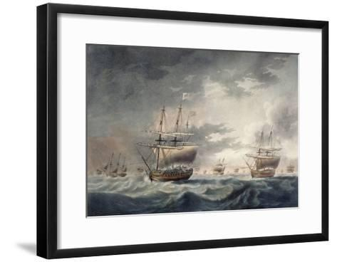 A Storm Coming On, Engraved by Francis Jukes (1747-1812) Published in 1795-Robert Dodd-Framed Art Print