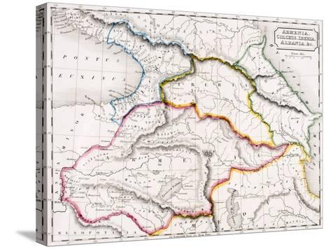 Map of Armenia, Colchis, Iberia and Albania, from 'The Atlas of Ancient Geography', by Samuel…--Stretched Canvas Print