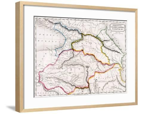 Map of Armenia, Colchis, Iberia and Albania, from 'The Atlas of Ancient Geography', by Samuel…--Framed Art Print