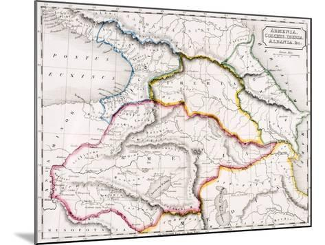 Map of Armenia, Colchis, Iberia and Albania, from 'The Atlas of Ancient Geography', by Samuel…--Mounted Giclee Print