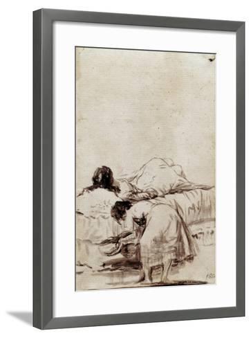 The Afternoon Nap-Francisco de Goya-Framed Art Print