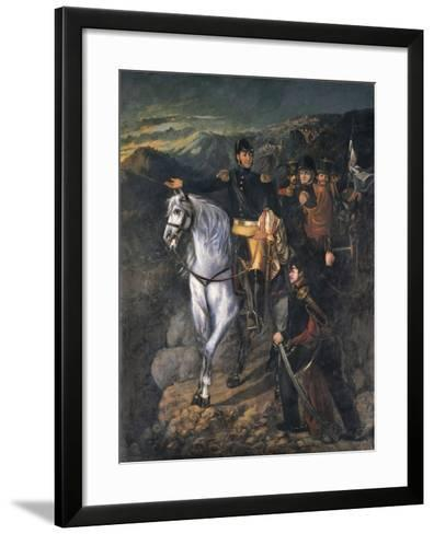 General San Martin after Crossing the Andes in 1817, 1865-Martin Boneo-Framed Art Print