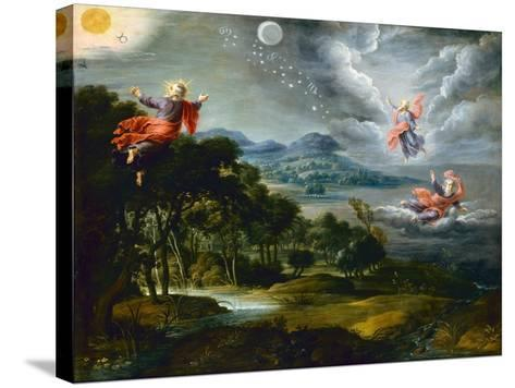 The Creation of Heaven, Earth and Water-Willem Van The Elder Herp-Stretched Canvas Print