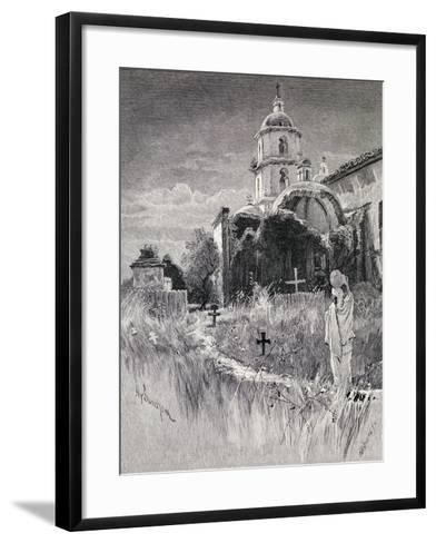 Graveyard and Mission, San Luis Rey De Francia, California, from 'The Century Illustrated Monthly…-Henry Sandham-Framed Art Print
