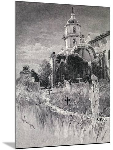 Graveyard and Mission, San Luis Rey De Francia, California, from 'The Century Illustrated Monthly…-Henry Sandham-Mounted Giclee Print