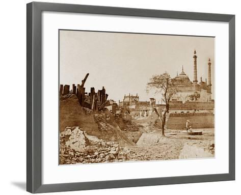The Battery Near the Begum Kotee, Lucknow-Felice Beato-Framed Art Print
