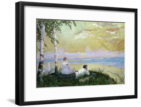 On the Volga-Boris Kustodiyev-Framed Art Print