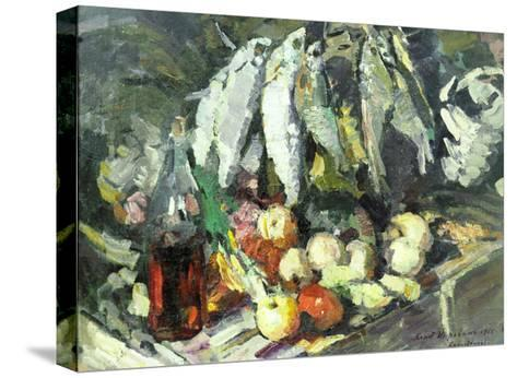 Fish, Wine and Fruit-Konstantin A^ Korovin-Stretched Canvas Print