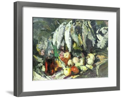 Fish, Wine and Fruit-Konstantin A^ Korovin-Framed Art Print