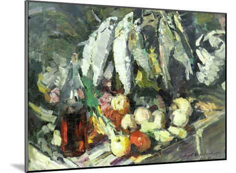 Fish, Wine and Fruit-Konstantin A^ Korovin-Mounted Giclee Print