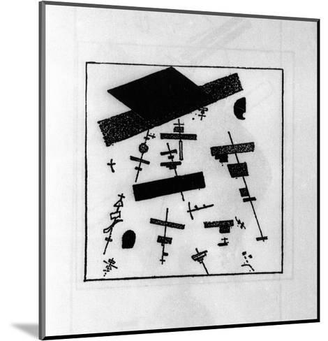Suprematist Drawing-Kasimir Malevich-Mounted Giclee Print