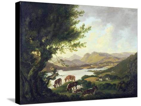 Lake Windemere-Julius Caesar Ibbetson-Stretched Canvas Print