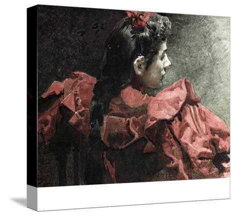 The Woman in Red, 1895-Mikhail Aleksandrovich Vrubel-Stretched Canvas Print