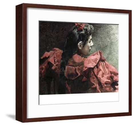 The Woman in Red, 1895-Mikhail Aleksandrovich Vrubel-Framed Art Print