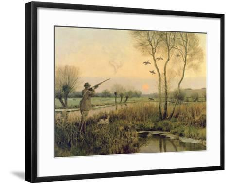 Duck Shooting-Christopher William Strange-Framed Art Print