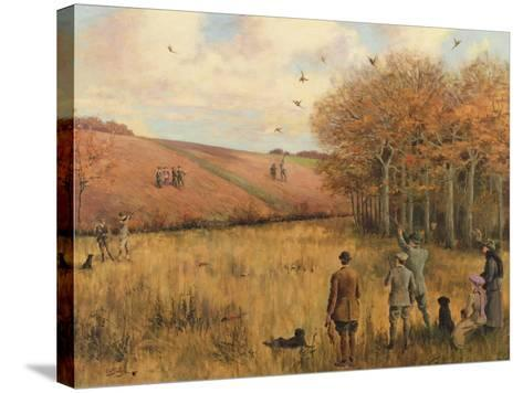 Pheasant Shooting-Christopher William Strange-Stretched Canvas Print