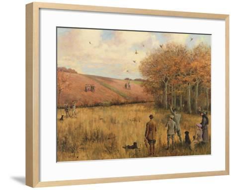 Pheasant Shooting-Christopher William Strange-Framed Art Print