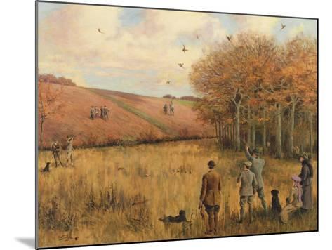 Pheasant Shooting-Christopher William Strange-Mounted Giclee Print