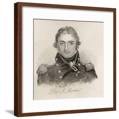 Sir John Moore, from 'Crabb's Historical Dictionary', Published 1825--Framed Art Print