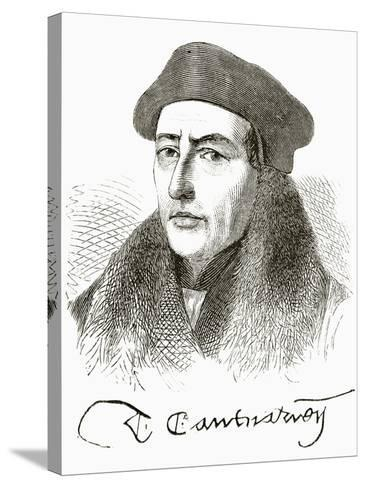 Thomas Cranmer, from 'The National and Domestic History of England' by William Hickman Smith…--Stretched Canvas Print