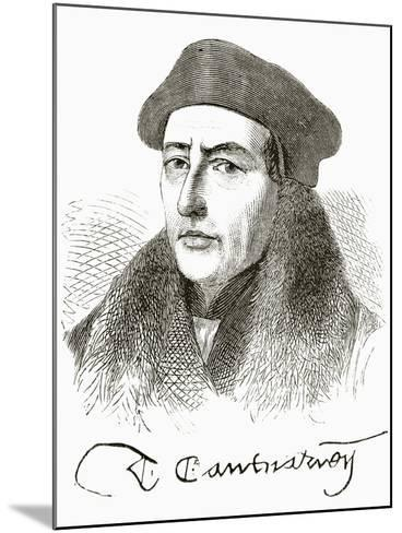 Thomas Cranmer, from 'The National and Domestic History of England' by William Hickman Smith…--Mounted Giclee Print
