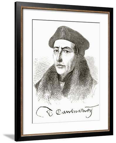 Thomas Cranmer, from 'The National and Domestic History of England' by William Hickman Smith…--Framed Art Print