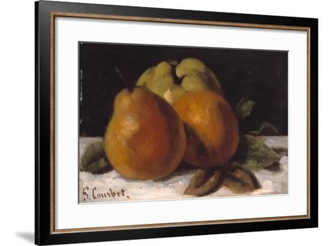 Apple, Pear and Orange, C.1871-72-Gustave Courbet-Framed Art Print