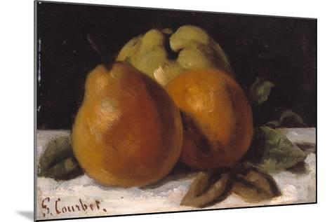 Apple, Pear and Orange, C.1871-72-Gustave Courbet-Mounted Giclee Print