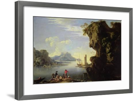 Coastal Scene with Fishermen-Salvator Rosa-Framed Art Print