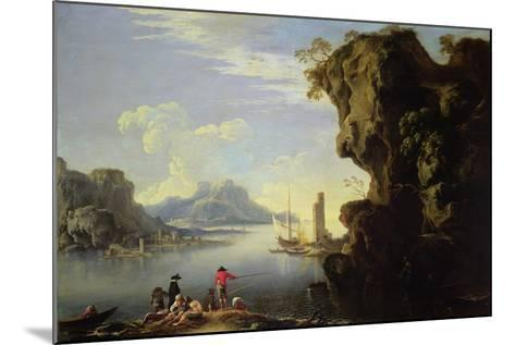 Coastal Scene with Fishermen-Salvator Rosa-Mounted Giclee Print