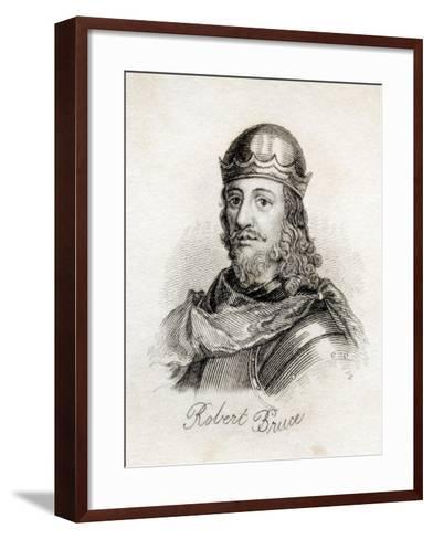 Robert the Bruce, from 'Crabb's Historical Dictionary', Published 1825--Framed Art Print