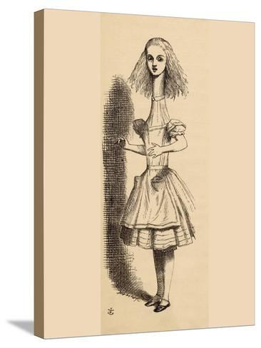 Alice Grows Taller, from 'Alice's Adventures in Wonderland' by Lewis Carroll, Published 1891-John Tenniel-Stretched Canvas Print