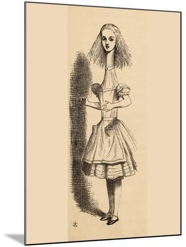 Alice Grows Taller, from 'Alice's Adventures in Wonderland' by Lewis Carroll, Published 1891-John Tenniel-Mounted Giclee Print