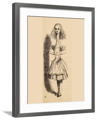 Alice Grows Taller, from 'Alice's Adventures in Wonderland' by Lewis Carroll, Published 1891-John Tenniel-Framed Art Print