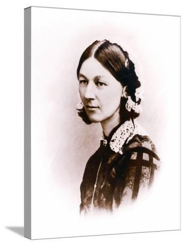 Carte De Visite Photograph of Florence Nightingale, by H. Lenthall, C.1856--Stretched Canvas Print