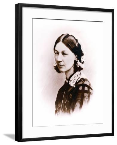 Carte De Visite Photograph of Florence Nightingale, by H. Lenthall, C.1856--Framed Art Print