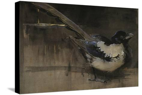 The Magpie-Joseph Crawhall-Stretched Canvas Print
