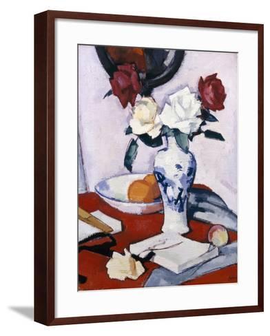 Roses-Samuel John Peploe-Framed Art Print