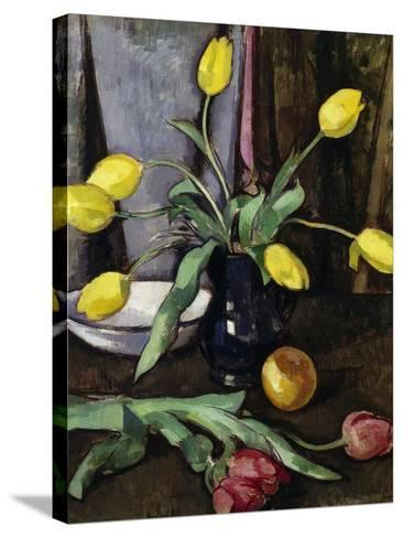 Still-Life with Tulips-Samuel John Peploe-Stretched Canvas Print