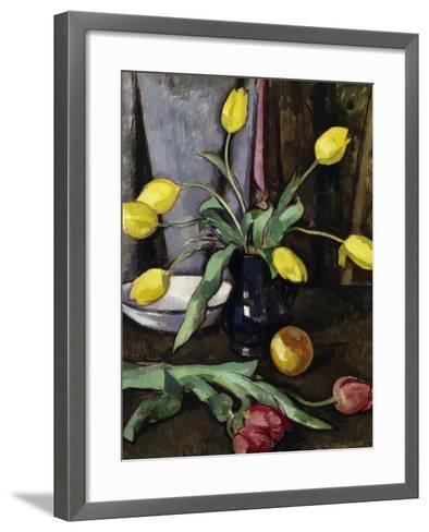 Still-Life with Tulips-Samuel John Peploe-Framed Art Print