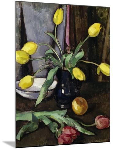 Still-Life with Tulips-Samuel John Peploe-Mounted Giclee Print